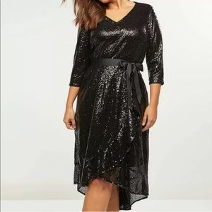 NWT Lane Bryant Sequin Fit & Flare Dress 14 16 1X
